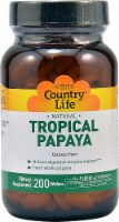 Country Life Natural Tropical Papaya Dietary Supplement Wafers