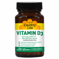 Country Life Vitamin D3 Softgels 2500IU
