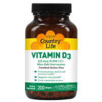 Country Life Vitamin D3 Softgels 5000IU