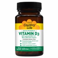 Country Life Vitamin D3 Softgels 10000IU