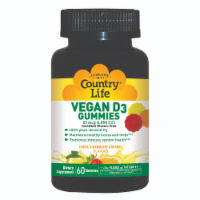 Country Life Vegan D3 Lemon Strawberry & Orange Gummies 1000 IU