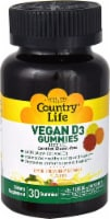 Country Life  Vegan D3 Gummies   Lemon Strawberry & Orange