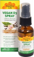 Country Life Vanilla Bean Vitamin D3 Spray 2000 IU