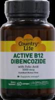 Country Life Active B12 Dibencozide with Folic Acid Lozenges 60 Count