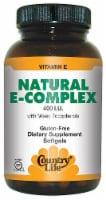 Country Life Natural E-Complex Softgels 400 IU 180 Count