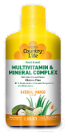 Country Life Food Based Multi Vitamin & Mineral Complex Mango Flavored Liquid - 32 fl oz