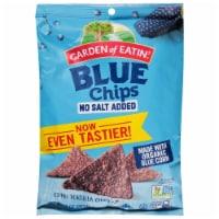 Garden of Eatin' No Salt Added Blue Corn Tortilla Chips