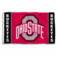 BSI Products 35155 Ohio State Buckeyes Flag With Grommets - 1