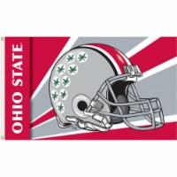 Ohio State Buckeyes Helmet Flag - 3 x 5 ft