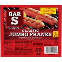 Bar-S Classic Jumbo Franks - 8 ct / 16 oz