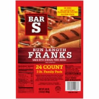 Bar-S Bun Length Franks - 24 ct / 48 oz