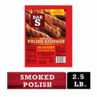 Bar-S Smoked Polish Sausage Links 14 Count