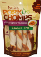 Pork Chomps Sweet Potato Wrapped Rawhide-Free Dog Treats