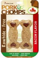 "Pork Chomps Rawhide-Free Bacon Flavored 4"" Dog Treats"