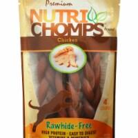 Nutri Chomps 882862 6 in. Chicken Flavor Braid - 4 Count - 1