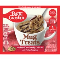 Betty Crocker Soft Baked Chocolate Chip Cookie Mug Treat Mix Pouches