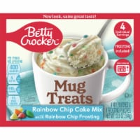 Betty Crocker Mug Treats Rainbow Chip Cake Mix Pouches 4 Count