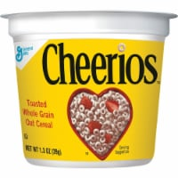 Cheerios Cereal-in-a-Cup - Original - 1 Serving Cup - 1.30 oz - 6 / Pack - 1