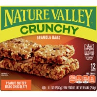 Nature Valley Crunchy Peanut Butter & Dark Chocolate Granola Bars 6 Count