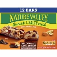 Nature Valley Dark Chocolate Peanut & Almond Sweet & Salty Nut Granola Bars Value Pack 12 Count