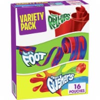 Fruit Roll-Ups Fruit by the Foot & Fruit Gushers Snacks Variety Pack