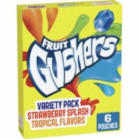 Fruit Gushers Strawberry Splash and Tropical Fruit Flavored Snacks 6 Count
