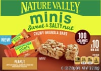 Nature Valley Sweet & Salty Peanut and Almond Butter Mini Granola Bars 10 Count