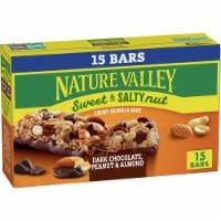 Nature Valley™ Sweet & Salty Nut Dark Chocolate Peanut & Almond Granola Bars Family Pack - 15 ct / 1.2 oz