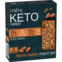 Ratio Keto Friendly Gluten Free Toasted Almond Crunchy Bars