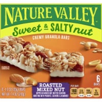 Nature Valley Sweet & Salty Nut Roasted Mixed Nut Chewy Granola Bars 6 Count