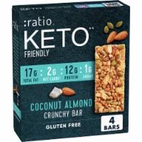 :ratio Keto Friendly Coconut Almond Crunchy Bars - 4 ct / 1.45 oz