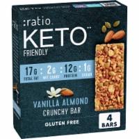 :ratio™ Keto Friendly Vanilla Almond Crunchy Bars - 4 ct / 1.45 oz