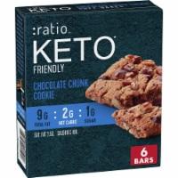 :ratio™ Keto Friendly Chocolate Chunk Cookie Soft Bake Bars - 6 ct / 0.89 oz