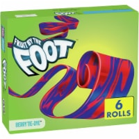 Fruit by the Foot Berry Tie-Dye Fruit Flavored Snacks 6 Count - 6 ct / 0.75 oz