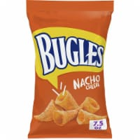 Bugles Nacho Cheese Flavor Crispy Corn Snacks