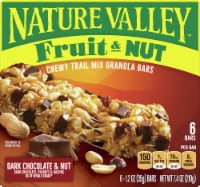 Nature Valley Fruit & Nut Dark Chocolate & Chewy Trail Mix Granola Bars - 6 ct / 1.2 oz