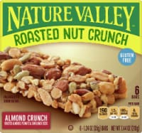 Nature Valley Roasted Nut Almond Crunch Bars - 6 ct / 1.24 oz