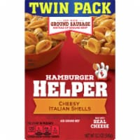 Hamburger Helper Cheesy Italian Shells Mix Twin Pack