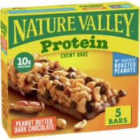 Nature Valley Protein Peanut Butter Dark Chocolate Chewy Bars - 5 ct / 1.42 oz