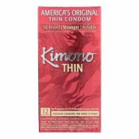 Mayer Laboratories Kimono Premium Thin Latex Condoms - 12 Pack - Case of 1 - 12 CT each