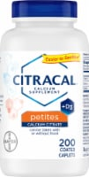 Citracal Calcium Citrate with Vitamin D Petite Supplement Caplets