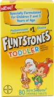 Flintstones Chewable Toddler Multivitamin Chewable Tablets 80 Count