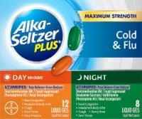 Alka-Seltzer Plus Day & Night Multi-Symptom Cold & Flu Formula Liquid Gels