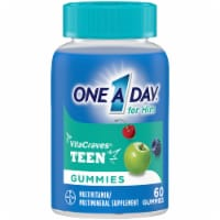 One A Day Teen Gummies for Him Vitacrave Multivitamin Gummies