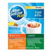 Alka-Seltzer Plus® Honey Lemon Zest Severe Cold & Flu Day & Night Powder Packets - 12 ct