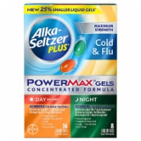 Alka-Seltzer Plus Cold & Flu Non-Drowsy Day & Night PowerMax Liquid Gels