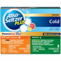 Alka-Seltzer Plus Lemon & Citrus Cold Day and Night Tablets 20 Count