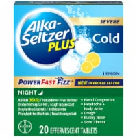 Alka-Seltzer Plus Lemon Severe Cold Night Relief Tablets 20 Count