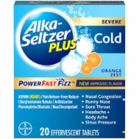 Alka-Seltzer Plus Orange Zest Severe Cold Relief Tablets 20 Count