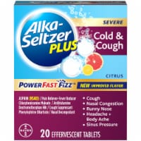 Alka-Seltzer Plus Citrus Severe Cold and Cough Relief Tablets 20 Count